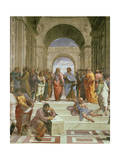School of Athens, Detail of the Centre Showing Plato and Aristotle with Students Impression giclée par  Raphael