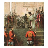 Execution of Mary, Queen of Scots Giclee Print by  English