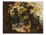 The Dance in the Forest Giclee Print by Abraham Govaerts