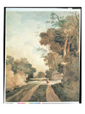 Landscape with Cottages (W/C on Paper) Giclee Print by John Sell Cotman