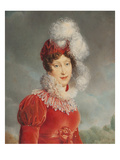 Portrait of Empress Marie Louise (1791-1847) of France in an Amazon Dress Giclee Print by Paolo Toschi