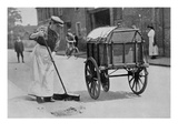 Women Roadsweepers, War Office Photographs, 1916 (B/W Photo) Giclee Print by  English Photographer
