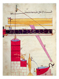 Device for Supplying Water to a Fountain, from 'Book of Knowledge of Ingenious Mechanical Devices' Giclee Print by  Islamic
