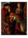 King Edward I (1239-1307) and Eleanor (1244-90) 1863 (Oil on Panel) Giclee Print by Alfred Sacheverell Coke
