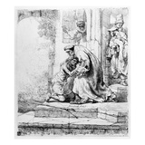 Return of the Prodigal Son, 1636 (Etching) Giclee Print by  Rembrandt van Rijn