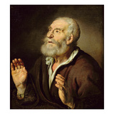 Portrait of an Old Man Giclee Print by  French
