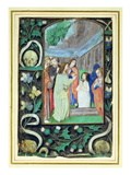 The Raising of Lazarus, from a Book of Hours (Vellum) Giclee Print by  Master of the Prayerbook