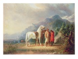 Sioux Camp Scene (Oil on Canvas) Giclee Print by Alfred Jacob Miller