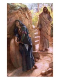 Mary Magdalene at the Sepulchre Lámina giclée por Harold Copping
