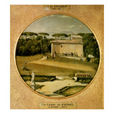 Casino of Raphael' in the Gardens of the Villa Borghese, Rome, 1807 Giclee Print by Jean-Auguste-Dominique Ingres