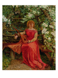 Fair Rosamund in Her Bower Giclee Print by William Bell Scott