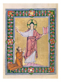 Dedication to Christ, from the Echternach Sacramentary, C.1030 (Vellum) Giclee Print by  Frankish