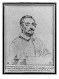 Girolamo Frescobaldi (Pierre Noire on Paper) Giclee Print by Claude Mellan