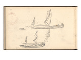 Boats (Pencil on Paper) Giclee Print by Claude Monet