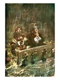 Paul and Silas in Prison Giclee Print by William Hatherell