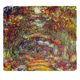 The Rose Path, Giverny, 1920-22 (Oil on Canvas) Giclee Print by Claude Monet