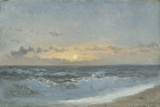 Sunset over the Sea, 1900 (Oil on Board) Giclee Print by William Pye