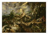 Landscape with Philemon and Baucis C.1625 (Oil on Panel) Giclee Print by Peter Paul Rubens