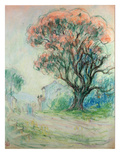 Pink Tree (Pastel on Paper) Giclee Print by Claude Emile Schuffenecker