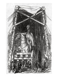 The Statue at Mr. Wyatt's Foundry, Published in 'The Illustrated London News', 3rd October 1846 Giclee Print by Ebenezer Landells