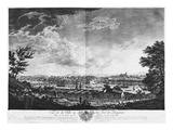 View of the Town and Port of Bayonne Seen from Halfway Down the Citadel Giclée-Druck von Claude Joseph Vernet