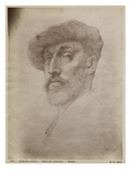 Clovis Delacoux, Sculptor, 1899 (Silverpoint on Cardboard) Giclee Print by Alphonse Legros