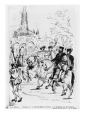 Francis I and Charles V Arriving at the Abbey Church of Saint-Denis, C.1811 Giclee Print by Baron Antoine Jean Gros