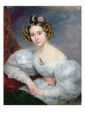 Portrait of a Young Woman, c.1833-34 Giclee Print by Ludwig August or Louis August Schwiter