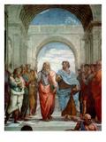 Aristotle and Plato: Detail from the School of Athens in the Stanza Della Segnatura, 1510-11 Giclée-Druck von  Raphael