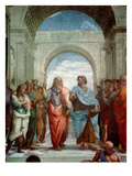 Aristotle and Plato: Detail from the School of Athens in the Stanza Della Segnatura, 1510-11 Giclee Print by  Raphael