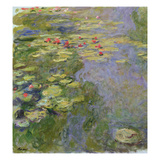The Waterlily Pond, 1917-19 (Oil on Canvas) (See Detail 382338) Reproduction proc&#233;d&#233; gicl&#233;e par Claude Monet
