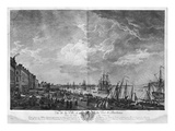 View of the Town and Port of Bordeaux Seen from the Salinieres, Series of 'Les Ports De France' Giclee Print by Claude Joseph Vernet