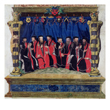 The Aldermen of Toulouse, 1554-55 (Vellum) Giclee Print by  French
