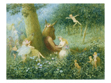 A Midsummer Night's Dream, 1895 (W/C with Bodycolour on Paper) Premium Giclee Print by Henry Towneley Green
