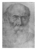 Head of a Man (Goldpoint on Paper) Giclee Print by Alphonse Legros