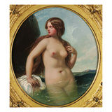A Nereid, 1856 (Oil on Panel) Giclee Print by William Edward Frost