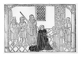 Earl Rivers Presents His Book to Edward Iv (Woodcut) Giclee Print by  English