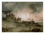 Bedlam Furnace, Madeley Dale, Shropshire, 1803 Premium Giclee Print by Paul Sandby Munn
