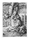 The Virgin and Child in a Landscape, 1523 (Engraving) Giclee Print by Lucas van Leyden