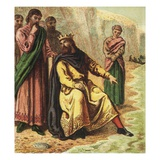 Canute and His Courtiers Giclee Print by  English