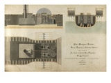 A Marine Steam Engine, 1832 (Pen and Ink and W/C on Paper) Giclee Print by James Nasmyth