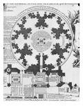 Basilica Saint-Denis, Plan of the Valois Tower, 1705 (Engraving) (See also 242815) Giclee Print by Charles Inselin