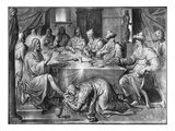 Life of Christ, the Meal at the House of Simon the Pharisee Premium Giclee Print by Henri Lerambert