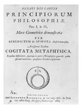 Titlepage to 'Renati Descartes Principiorum Philosophie' by Baruch Spinoza, Published in 1663 Giclee Print by  Dutch