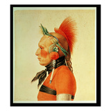 An Osage Warrior, 1804 (Colour Litho) Giclee Print by Charles Balthazar Julien Fevret De Saint-memin