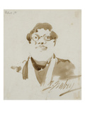 Portrait of Pichard (Ink on Paper) Giclee Print by Jean-Baptiste Isabey