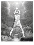 Fertilization of Egypt, Engraved by William Blake, 1791 (Engraving) Giclee Print by Henry Fuseli