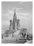 St. Basil's Cathedral, Moscow, Engraved by Turnbull, 1835 (Engraving) Giclee Print by Alfred Gomersal Vickers