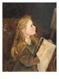 A Young Artist Giclee Print by George Lawrence Bulleid