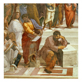 The School of Athens, Detail of the Figures on the Left Hand Side, 1510-11 Reproduction procédé giclée par Raphael